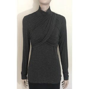 Cable & Gauge Jersey Knit Long Sleeve Top